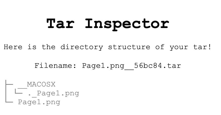 Tar Inspector